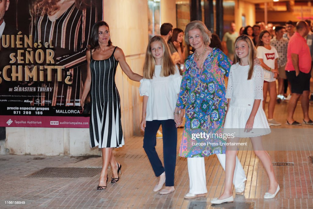 Spanish Royals Family Sighting In Mallorca - August 02, 2019 : News Photo