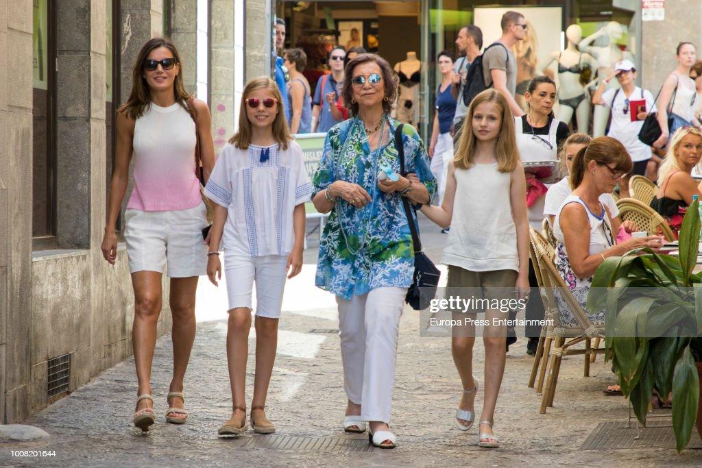 Spanish Royals Sighting In Mallorca - July 31, 2018 : Foto jornalística