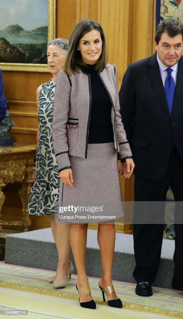 Queen Letizia Attends A Comission For The Creation Of A Virreinal Painting Room At Prado's Museum