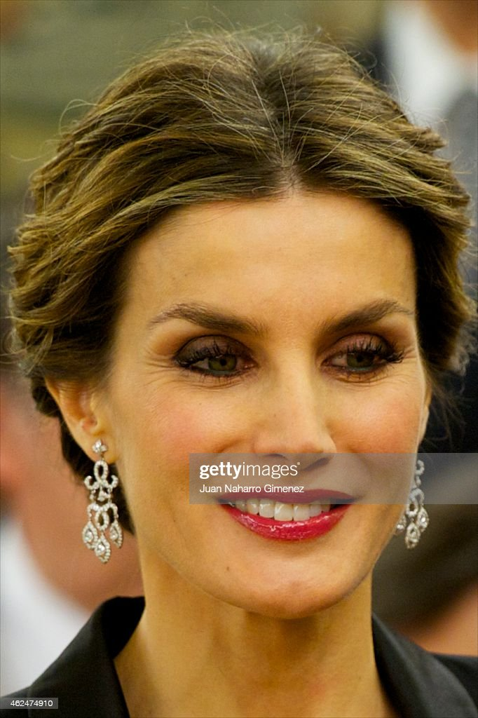 Spanish Royals Attend An Audience With 'I Skin Cancer Symposium' Guests at Zarzuela Palace : News Photo