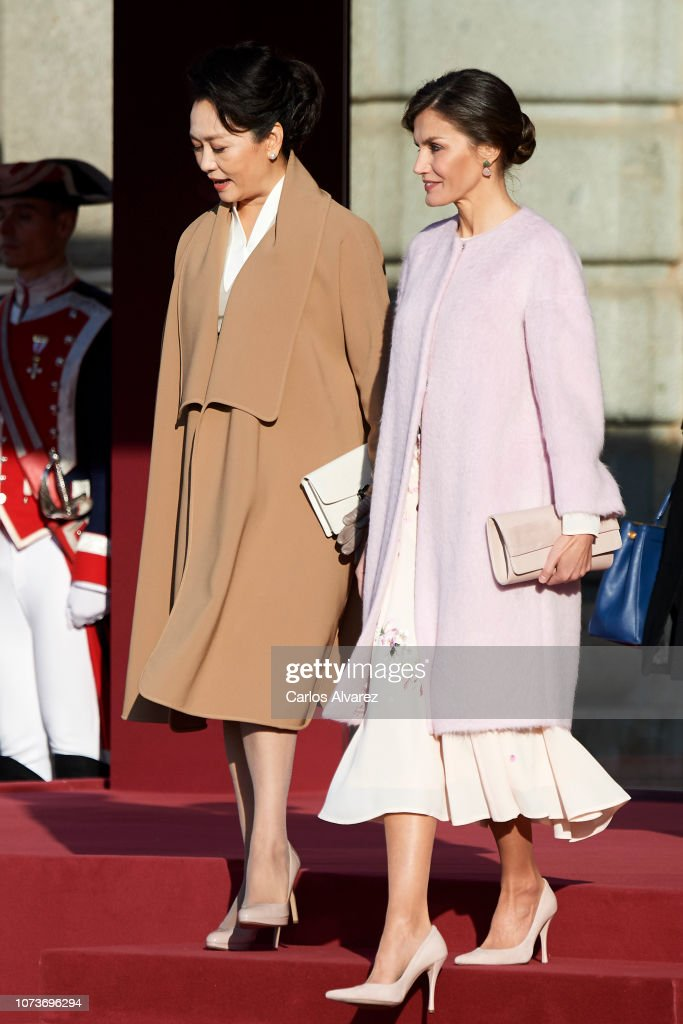 Spanish Royals Receive Chinese President Xi Jinping And His Wife : News Photo