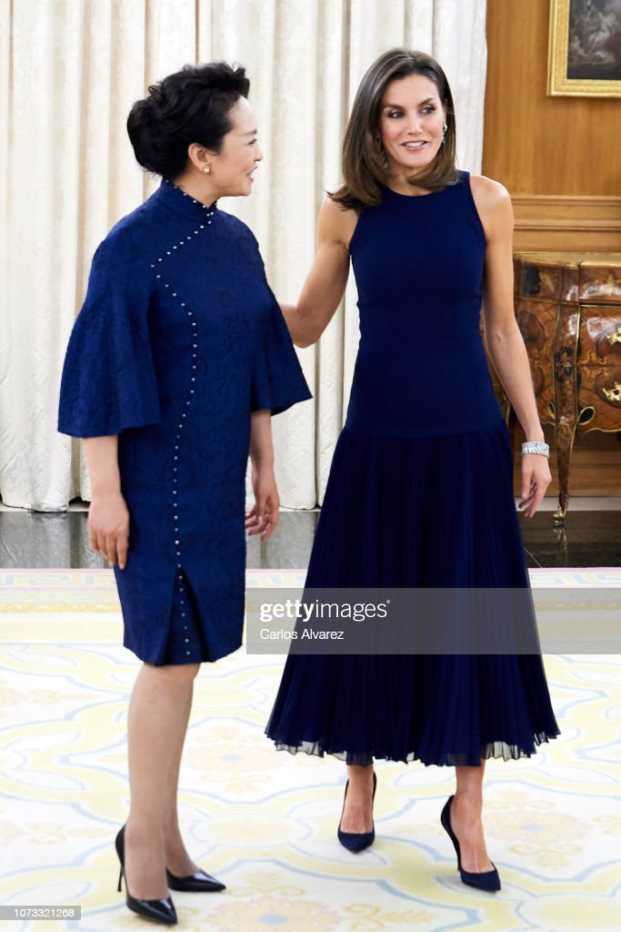 Spanish Royals Host An Official Dinner For Chinese President Xi Jinping And His Wife : News Photo