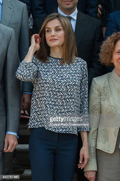 Queen Letizia of Spain receives Colegios del Mundo Unido Foundation at Zarzuela Palace at Zarzuela Palace on June 24 2016 in Madrid Spain