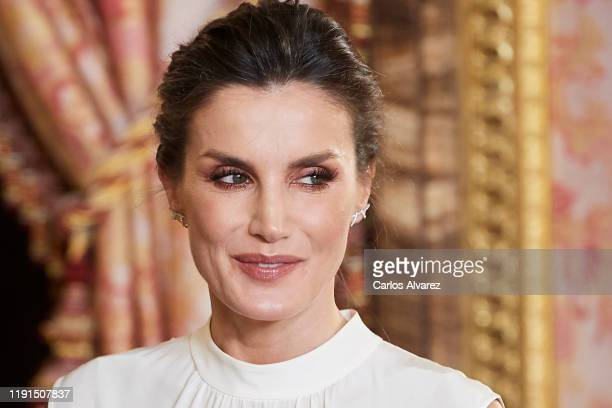 Queen Letizia of Spain receives COP25 participants at the Royal Palace on December 02, 2019 in Madrid, Spain.