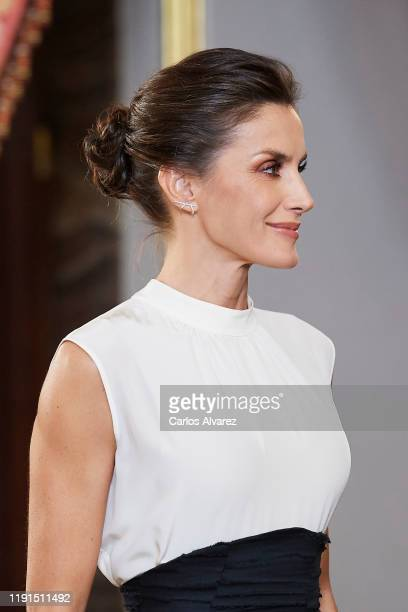 Queen Letizia of Spain receives COP25 participants at the Royal Palace on December 02 2019 in Madrid Spain