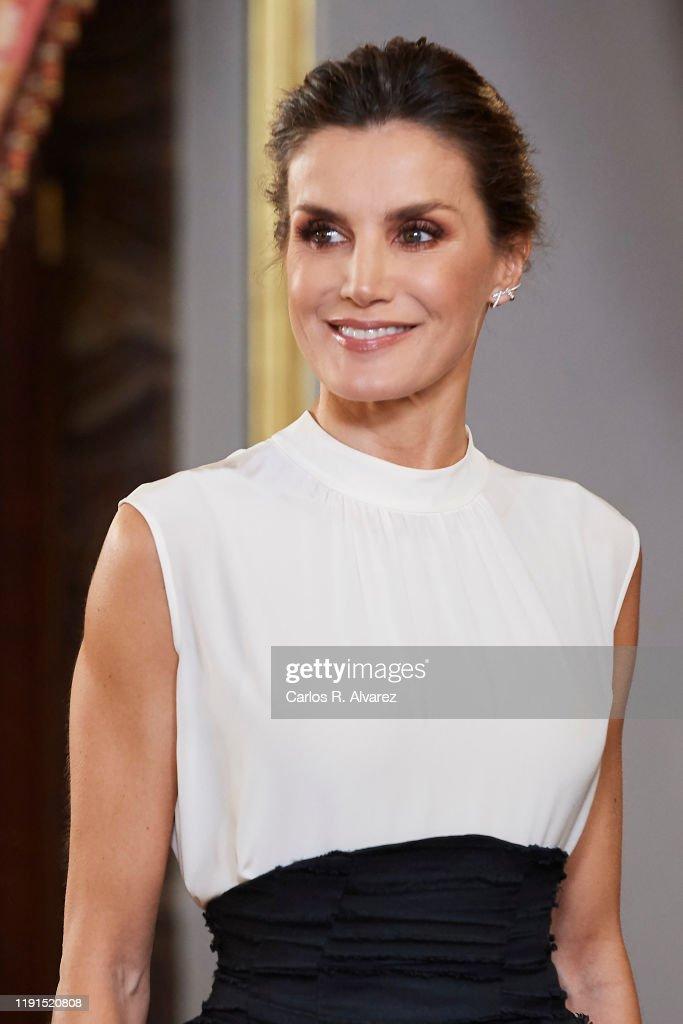 Spanish Royals Receive COP25 Participants At The Royal Palace : News Photo