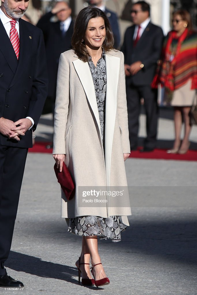 Spanish Royals Receive President Of Peru : News Photo