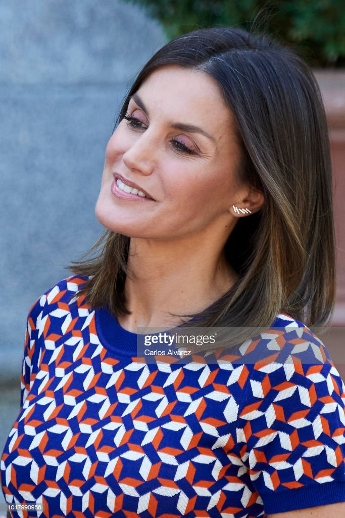 Spanish Royals Receive President Of Chile And His Wife At Zarzuela Palace : News Photo