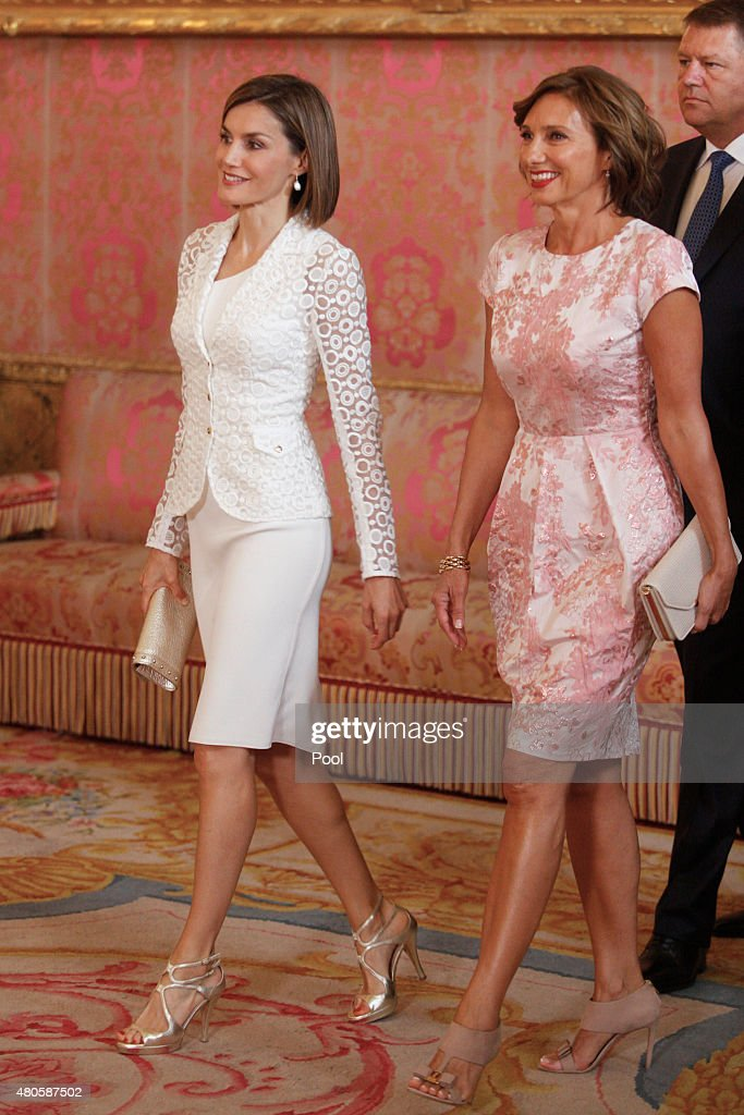 Spanish Royals Host a Lunch For President of Romania : News Photo
