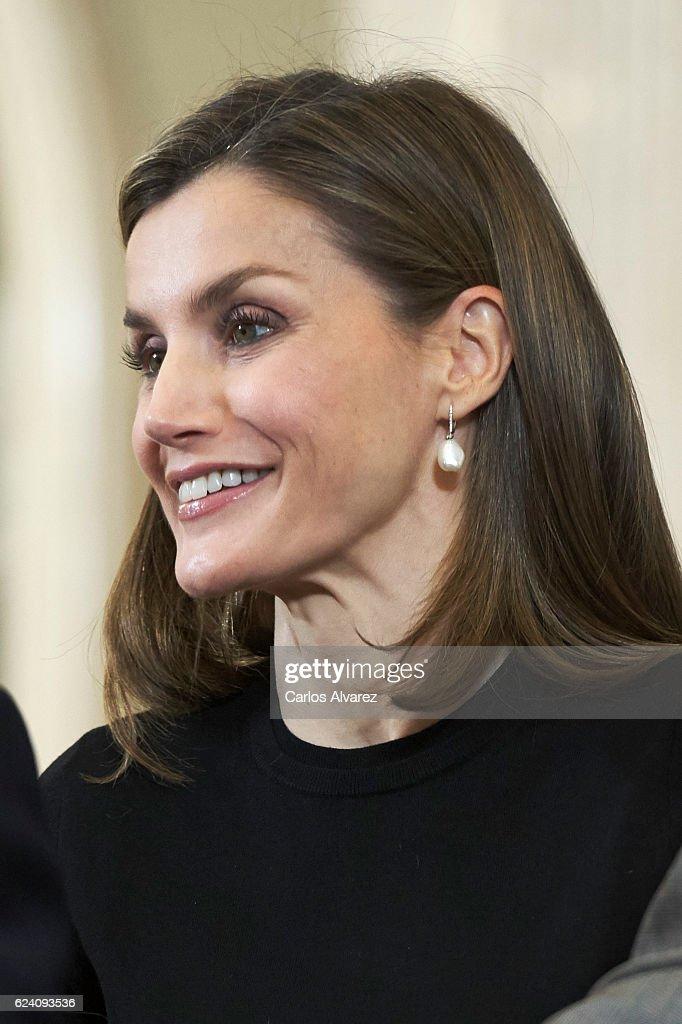 Spanish Royals Receives TVE Members At Zarzuela Palace : News Photo