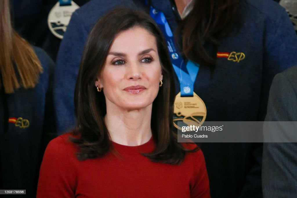 Spanish Royals Receive National Wateropolo Women's Team : News Photo