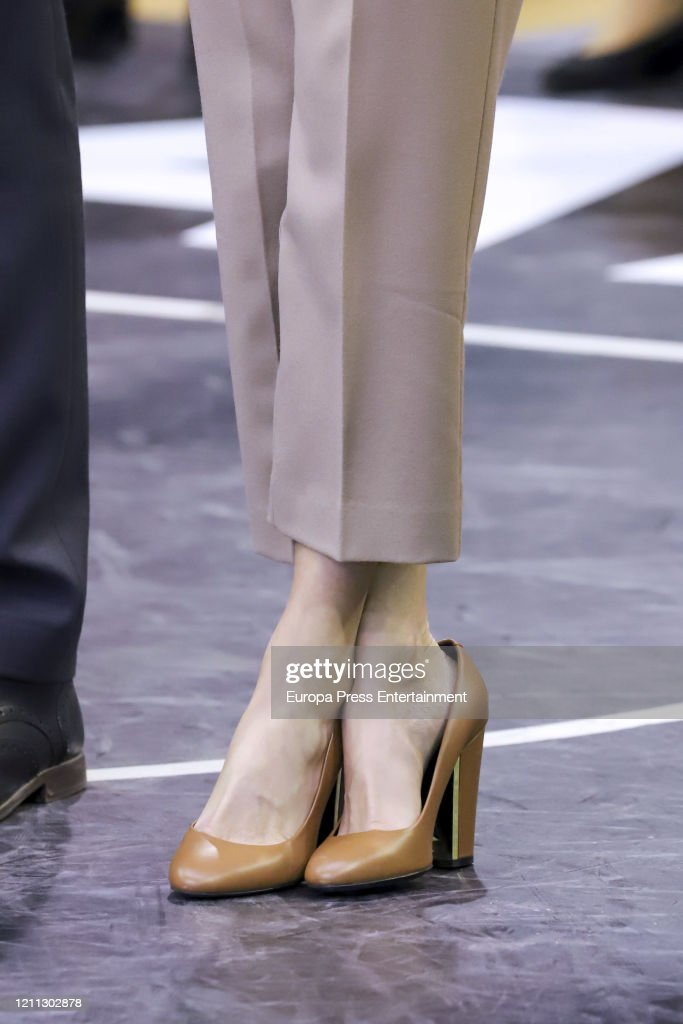 Queen Letizia Of Spain Attends 'Queen Cup' Basket Final : News Photo