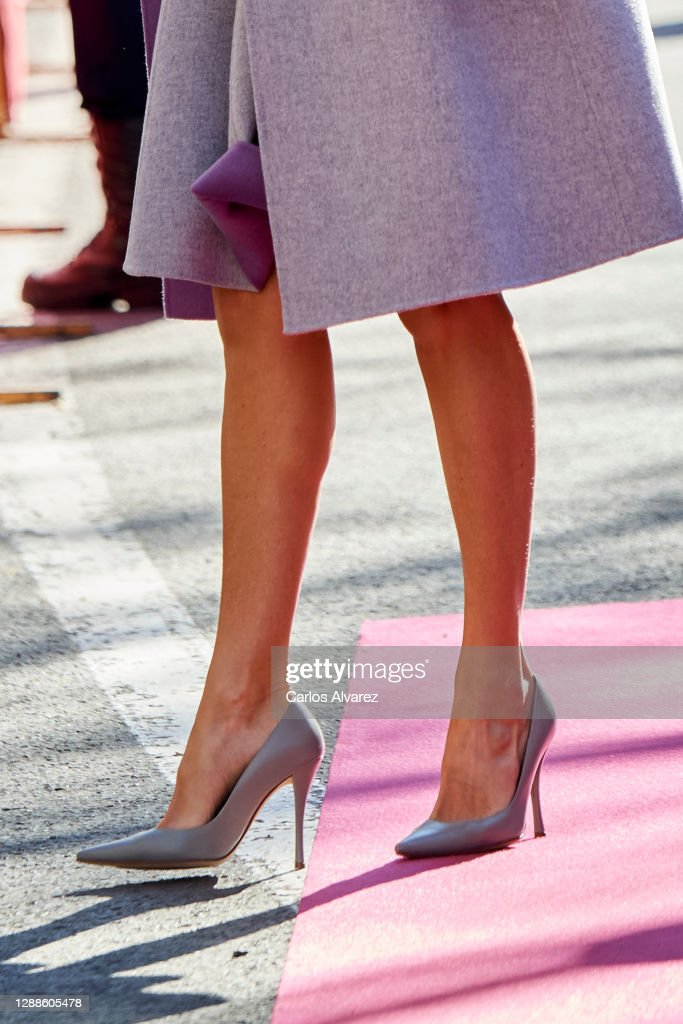 Queen Letizia Of Spain Arrives At The 'Jaume I' Awards In Valencia : News Photo