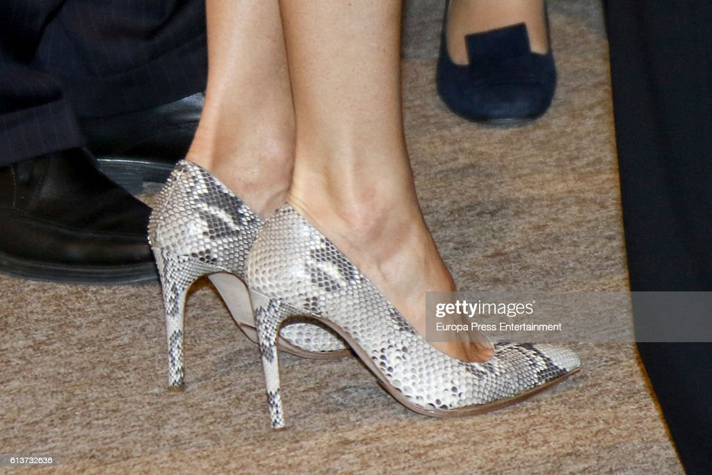 Queen Letizia Attends a Seminar at Casa de America in Madrid : News Photo