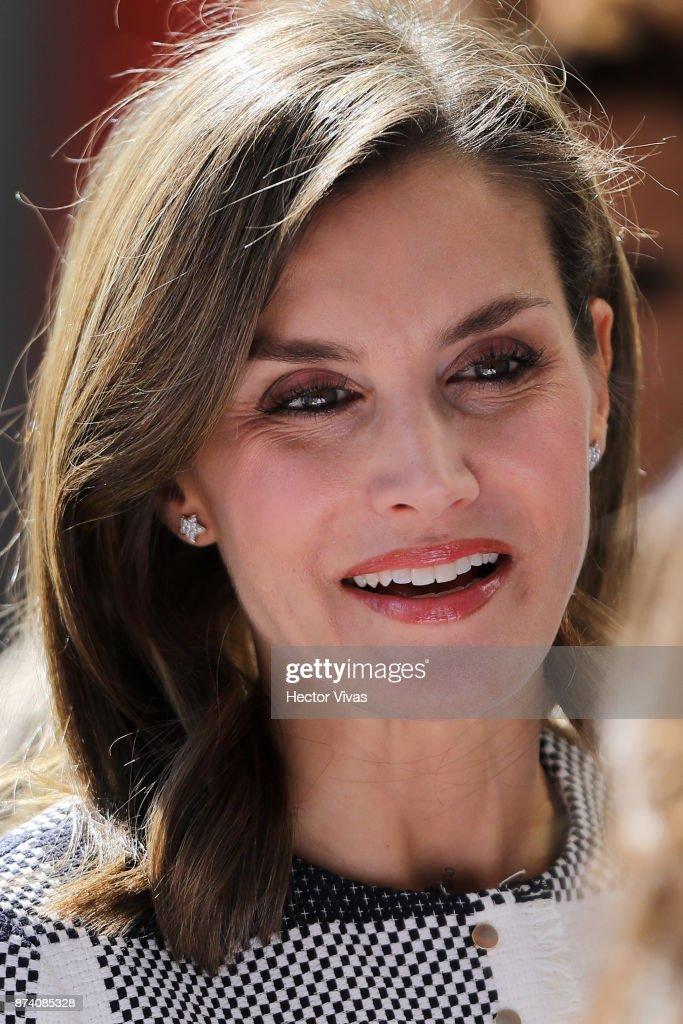 Queen Letizia of Spain Visits Mexico : News Photo