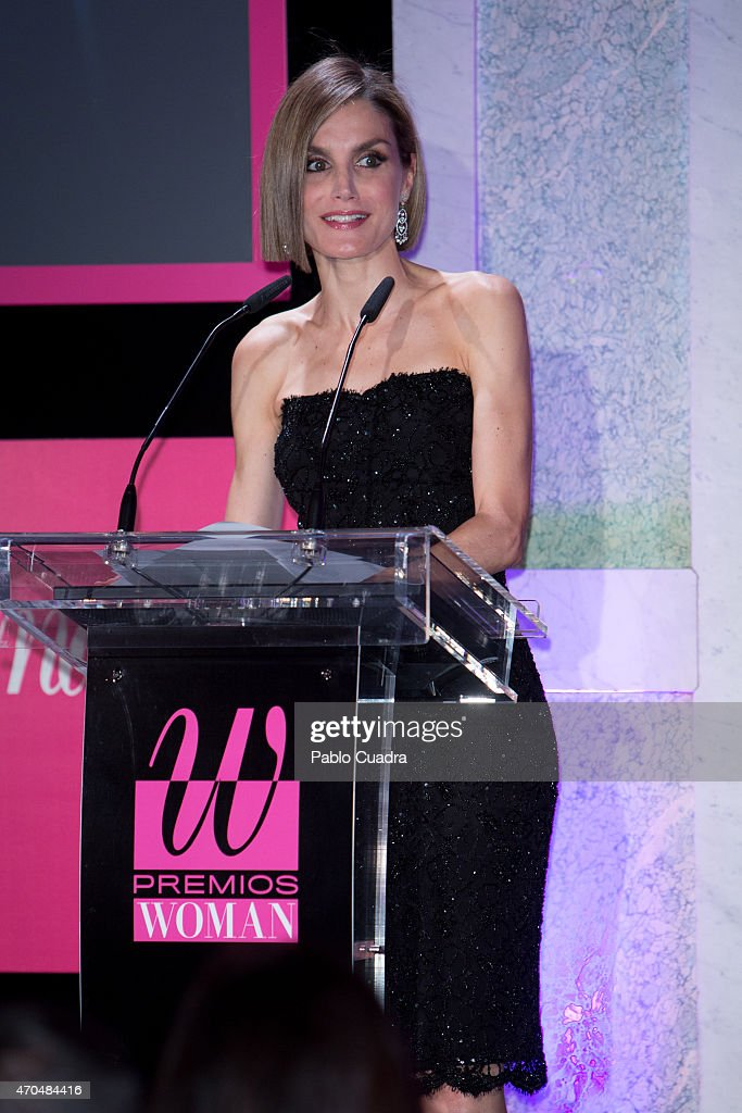 Queen Letizia of Spain speaks during the 'Woman Awards' at the 'Casino de Madrid' on April 20, 2015 in Madrid, Spain.