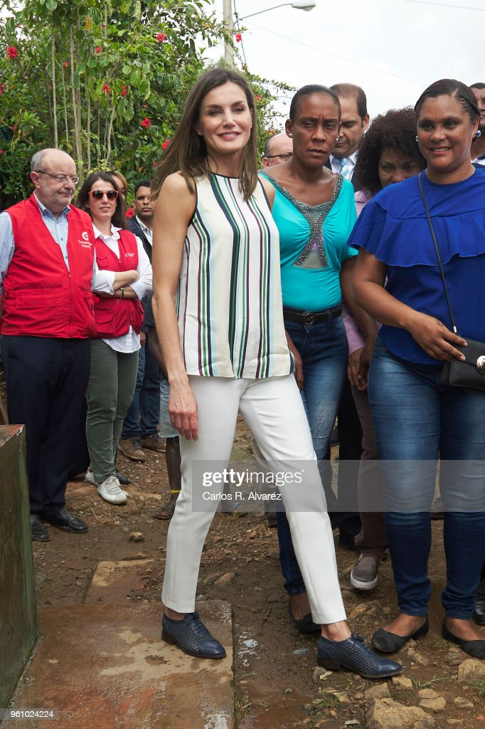 Day 2- Queen Letizia's Third Cooperation Trip To Dominican Republic And Haiti : News Photo