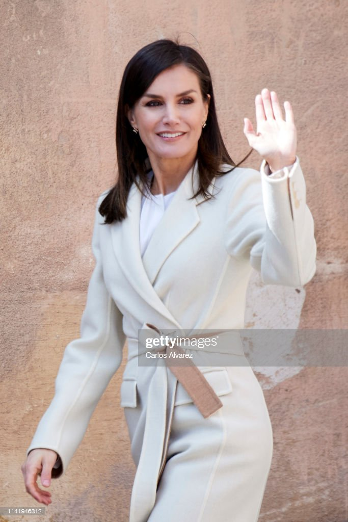 ESP: Queen Letizia Of Spain Visits 'Agneli' Exhibition In Burgos