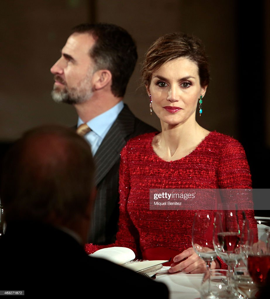 Queen Letizia of Spain visits Freixenet Cellars during the company's centenary celebration on February 12, 2015 in Sant Sadurni d'Anoia, Spain.