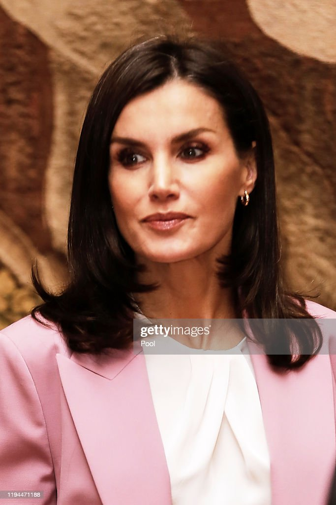 Queen Letizia Of Spain Visits An Exhibition At The Royal Palace : News Photo