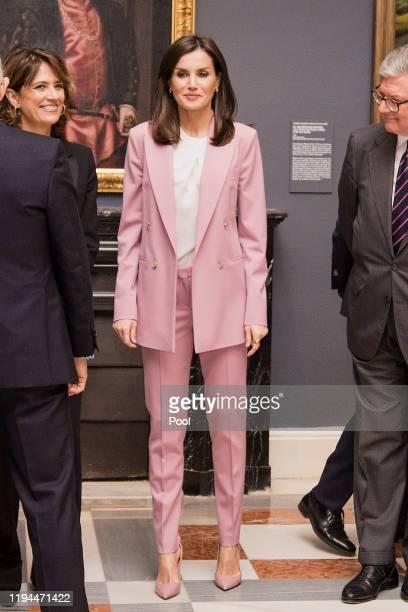 Queen Letizia of Spain visits 'La Otra Corte Mujeres de la Casa de Austria en los Monasterios Reales de las Descalzas y la Encarnacion' exhibition at...