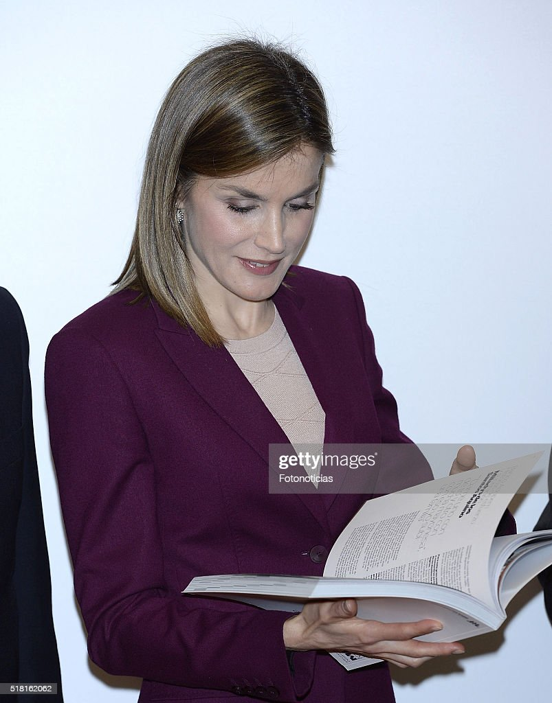 Queen Letizia Visits 'Microfinanzas BBVA' Foundation : News Photo