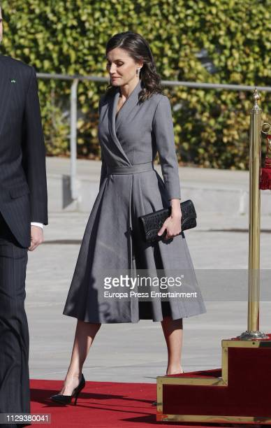 Queen Letizia of Spain visits Morocco on February 13, 2019 in Rabat, Morocco.