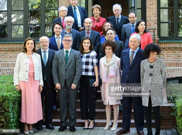 Queen Letizia of Spain visits a traditional Students Residence on June 7 2018 in Madrid Spain