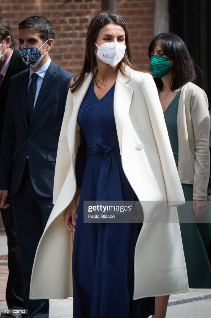 Spanish Royals Attend A Visit to The Cervantes Institute For The World Book Day : News Photo