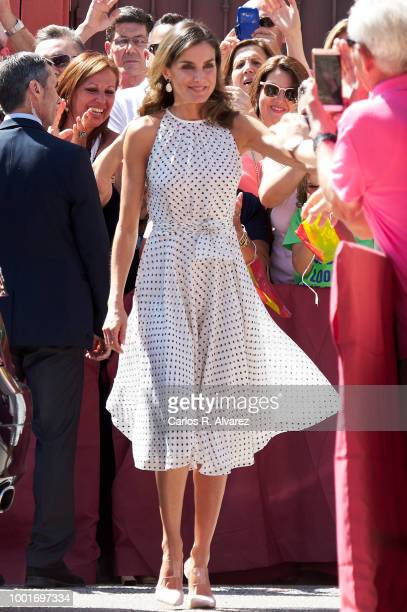 Queen Letizia of Spain visits the city of Bailen in occasion of the 210th anniversary of the Bailen Battle on July 19 in Bailen, Spain.