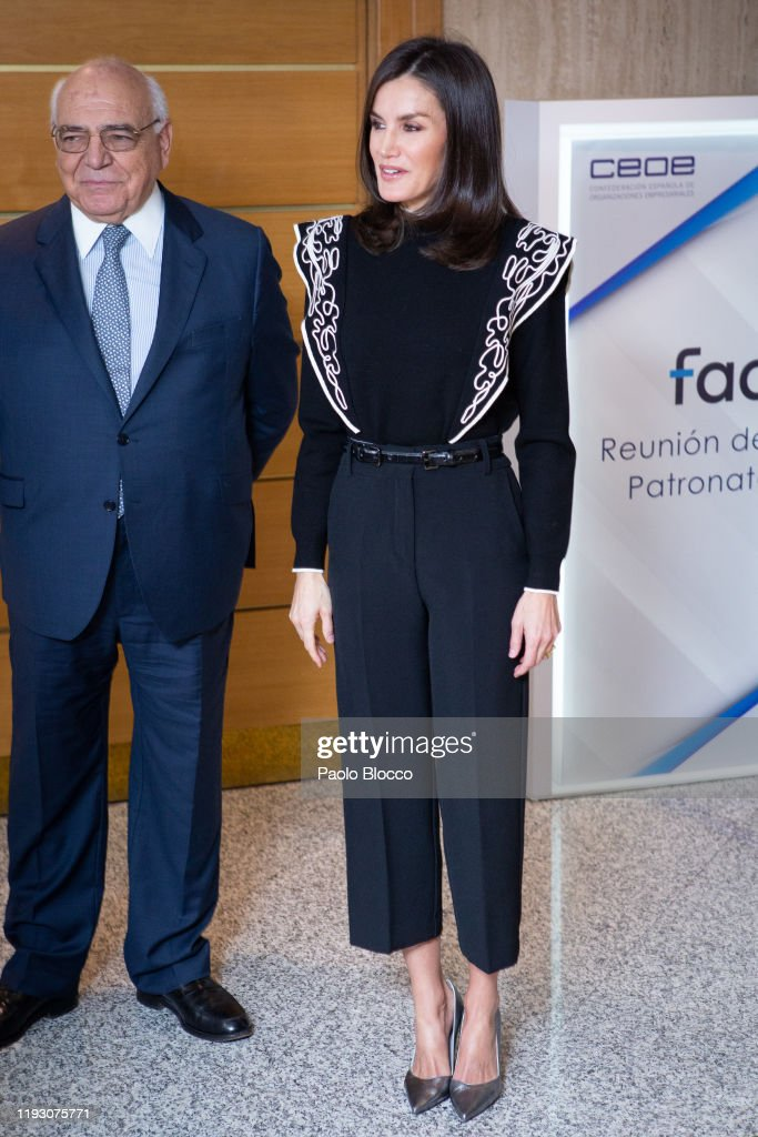 Queen Letizia Of Spain Visits FAD In Madrid : News Photo