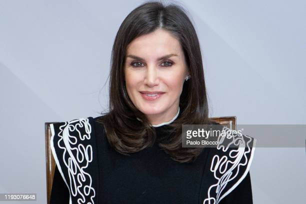 Queen Letizia of Spain visits the FAD Headquarters on December 10 2019 in Madrid Spain