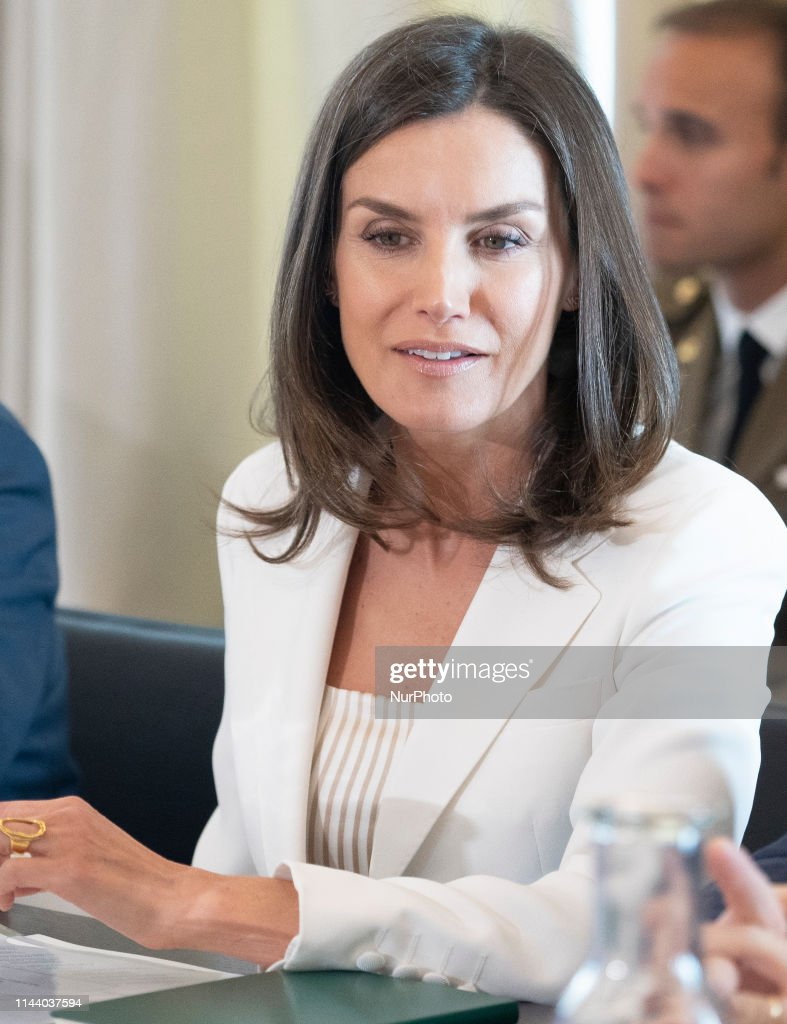 Queen Letizia Of Spain Visits The FAD In Madrid : News Photo