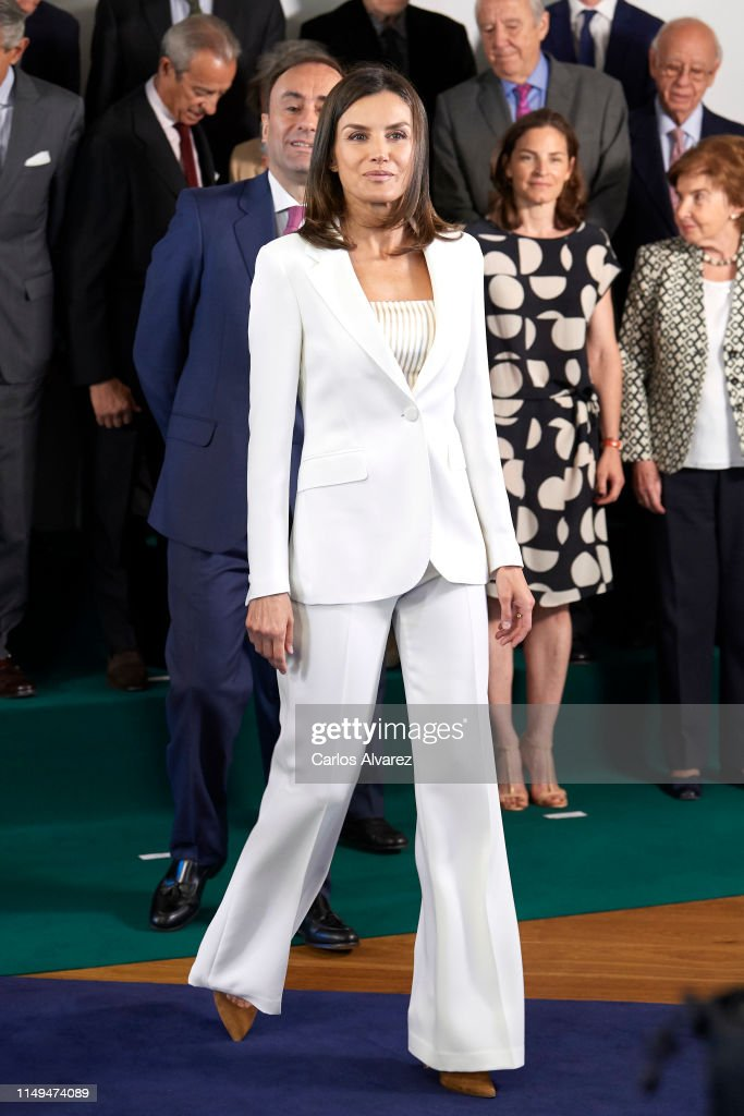 Queen Letizia of Spain Visits the FAD : News Photo