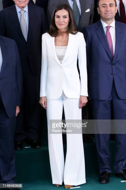 Queen Letizia of Spain visits the FAD on May 16 2019 in Madrid Spain