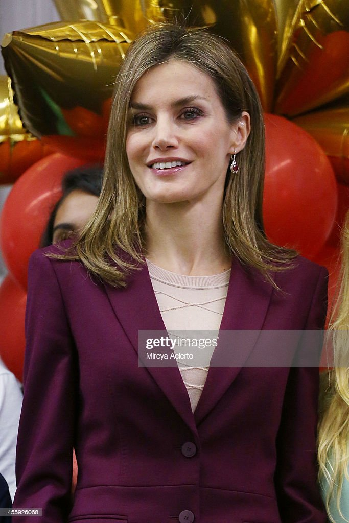 Queen Letizia Of Spain Visits The International Spanish Academies In New York City : News Photo