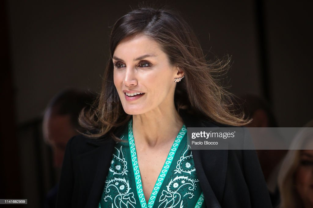 Queen Letizia Of Spain Visits The New Accessibility Facilities Installed At 'Real Monasterio de La Encarnacion' : News Photo