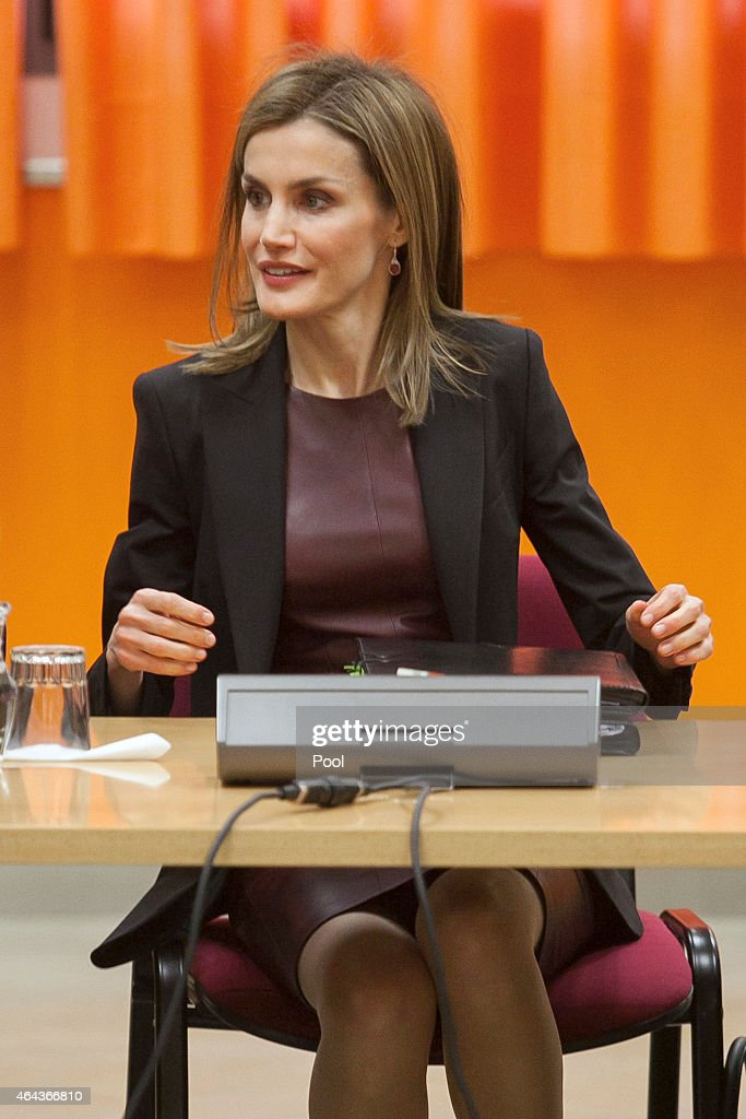 Queen Letizia Visits the ONCE Education Resource Center : News Photo