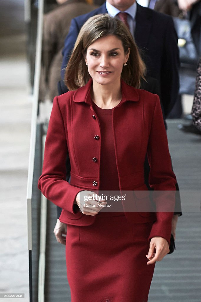 Queen Letizia Visits The Royal Palace : News Photo