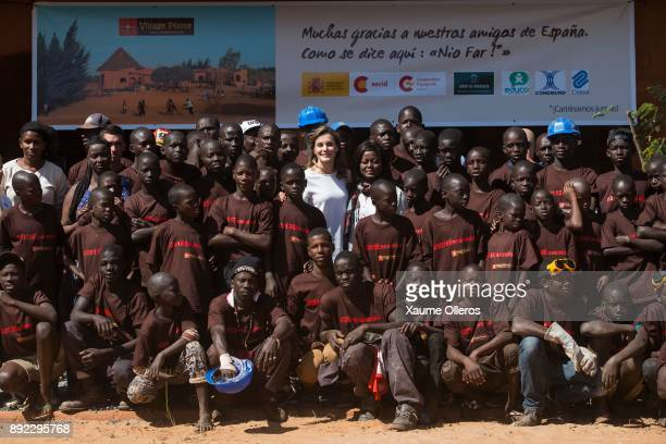 Queen Letizia of Spain visits Village Pilote an organisation providing help for street children on December 14 2017 in Dakar Senegal Queen Letizia of...