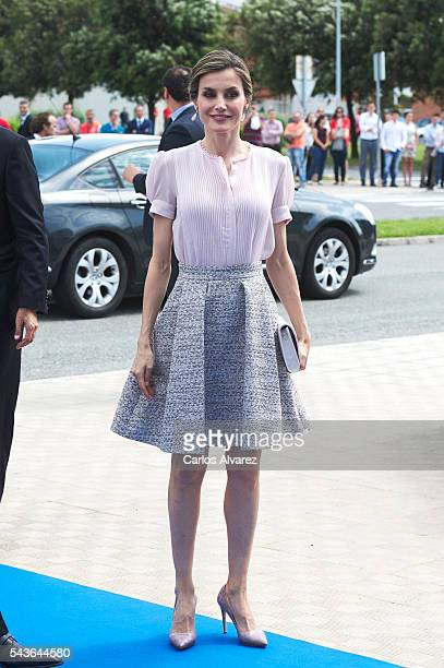 Queen Letizia of Spain visits Volkswagen Factory on Its 50th anniversary on June 29 2016 in Navarra Spain