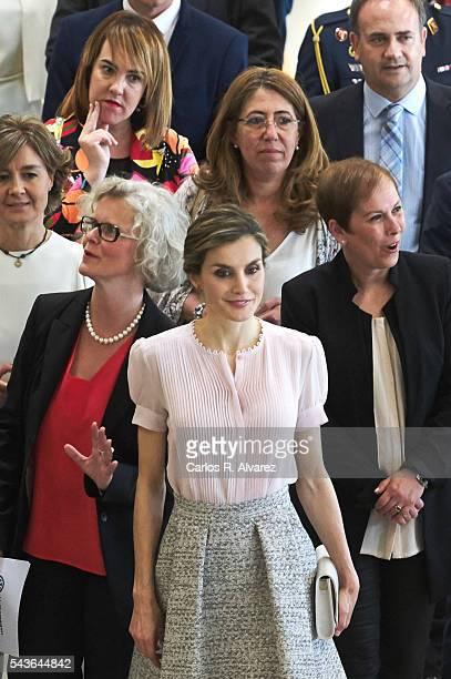 Queen Letizia of Spain visits Volkswagen Factory on Its 50th anniversary on June 29 2016 in Navarra Spain
