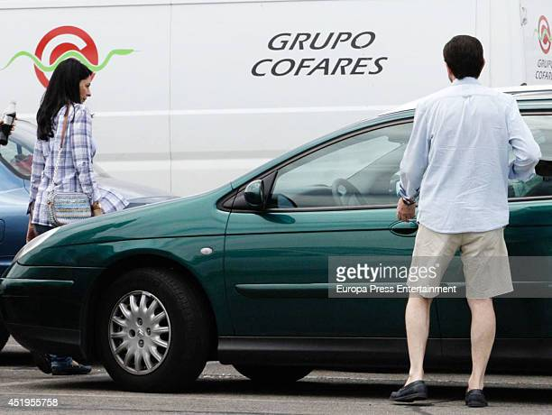 Queen Letizia of Spain's father Jesus Ortiz and Ana Togores are seen on June 22 2014 in Madrid Spain