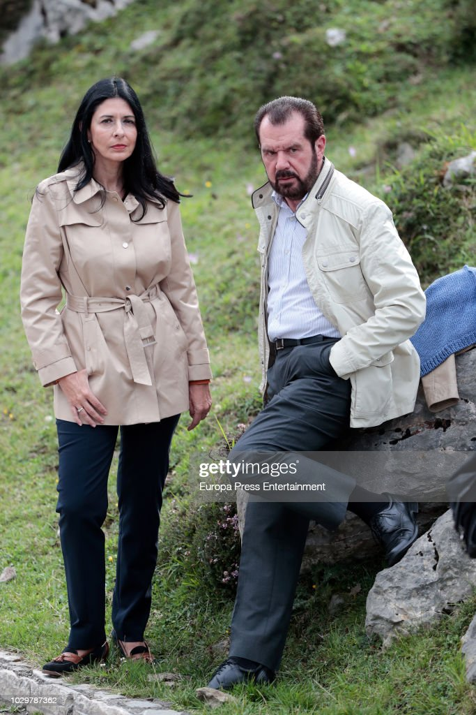 Queen Letizia of Spain's father Jesus Ortiz and his wife Ana Togores attend the Centenary of the creation of the National Park of Covadonga's Mountain and the opening of the Princess of Asturias viewpoint at Lagos de Covadonga on September 8, 2018 in Covadonga, Spain.