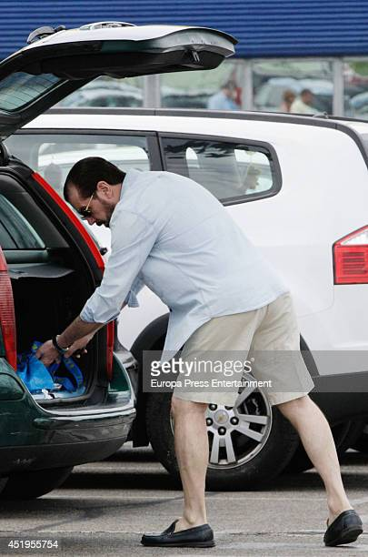 Queen Letizia of Spain's father Jesus Ortiz is seen on June 22 2014 in Madrid Spain