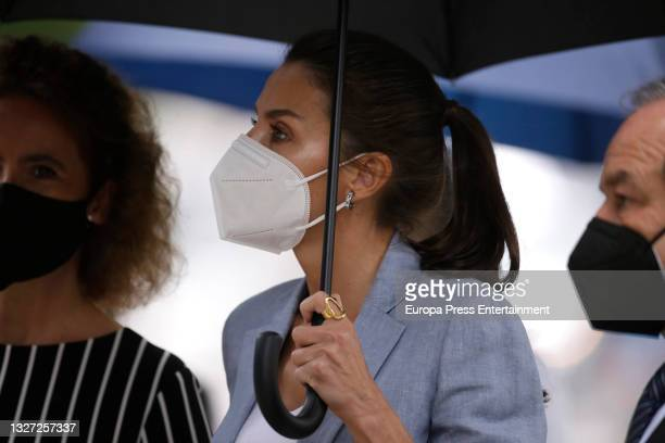 Queen Letizia visits the exhibition commemorating the 75th anniversary of the creation of Unicef, on 6 July 2021, in Madrid, Spain.