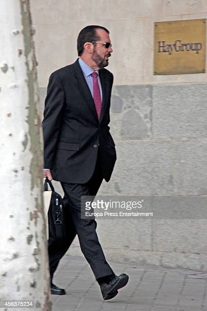 Queen Letizia's father Jesus Ortiz is seen on September 29 2014 in Madrid Spain