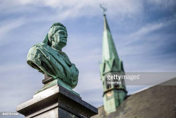 Queen Louise in front of Emmaus Church, Frederiksberg, Copenhagen, Denmark