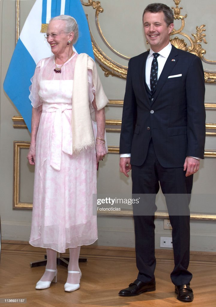 Queen Margrethe of Denmark and Crown Prince Frederik visit Argentina - Day 2 : News Photo