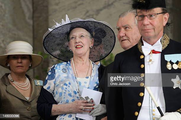 Queen Margarethe II of Denmark and Prince Henrik of Denmark attends the christening of new Swedish heir to the throne Princess Estelle Silvia Ewa...